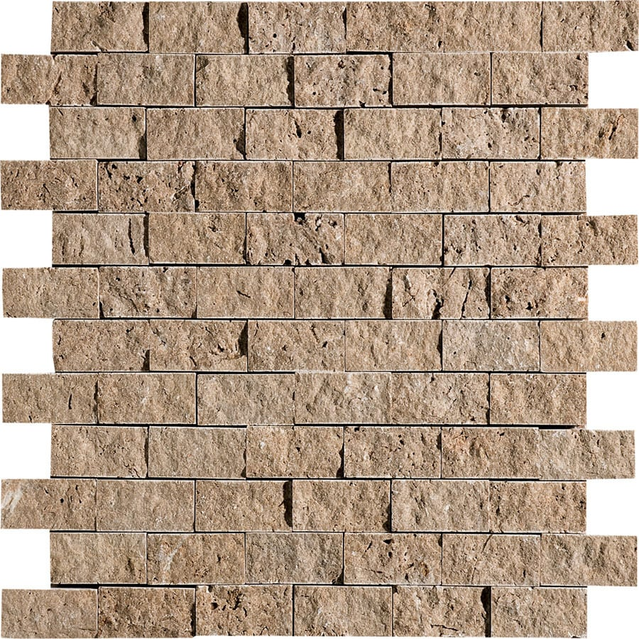 Bermar Natural Stone Noce Rock Face Travertine Floor and Wall Tile (Common: 12-in x 12-in; Actual: 11.75-in x 12-in)