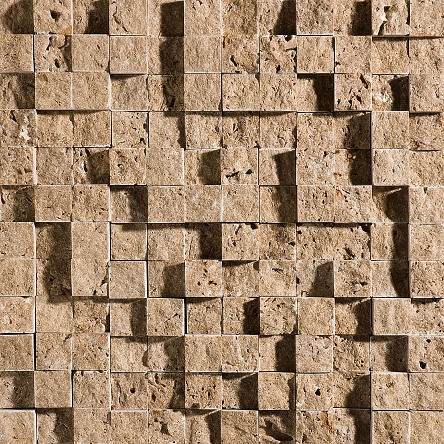 Shop Bermar Natural Stone Noce Rock Face Travertine Floor and Wall ...