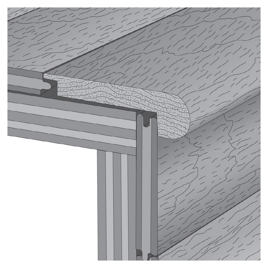LM Flooring 2-3/4-in x 78-in Hearth Stair Nose Moulding