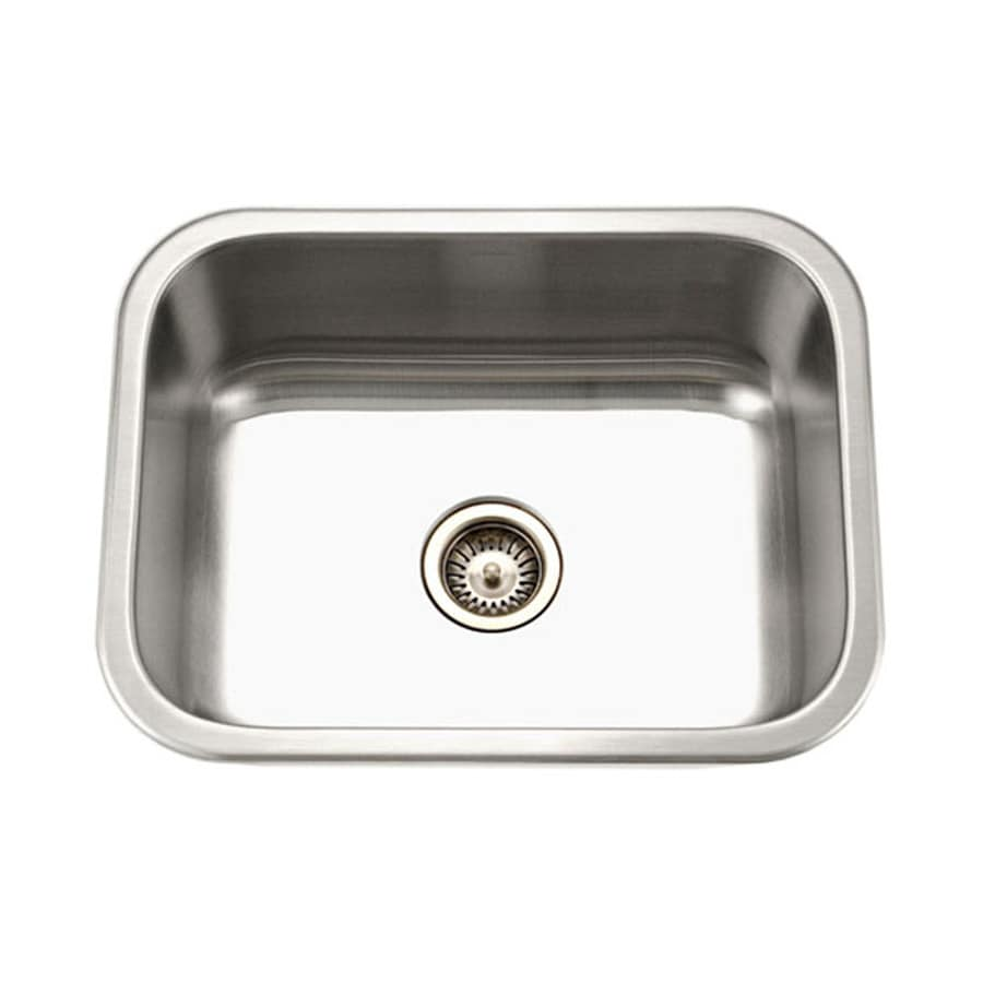 HOUZER Medallion 18-in x 23-in Lustrous Satin Single-Basin Stainless ...