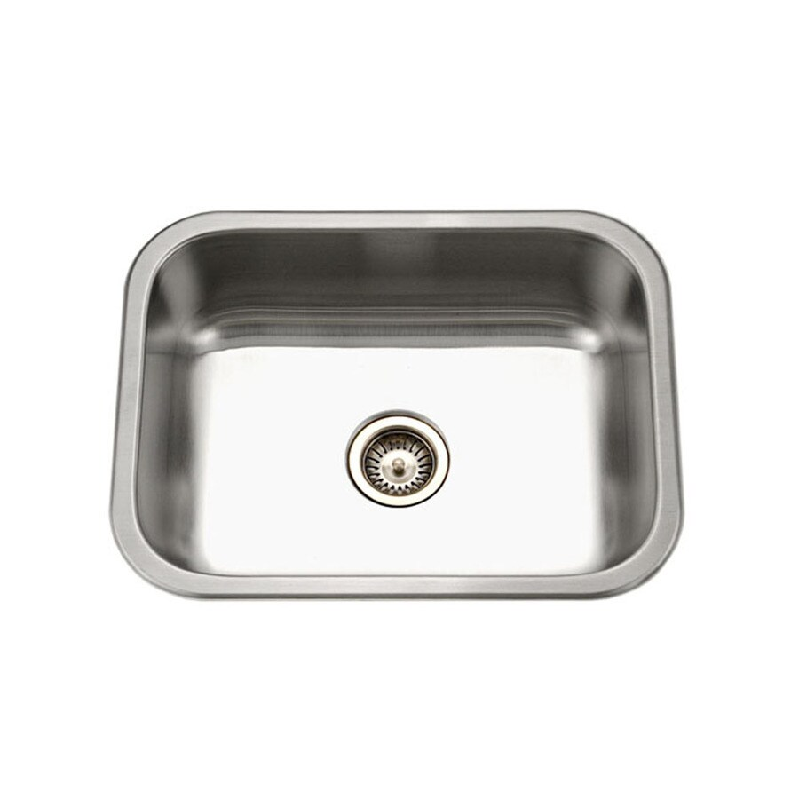 HOUZER Elite 18-in x 23-in Lustrous Satin Single-Basin Undermount Residential Kitchen Sink