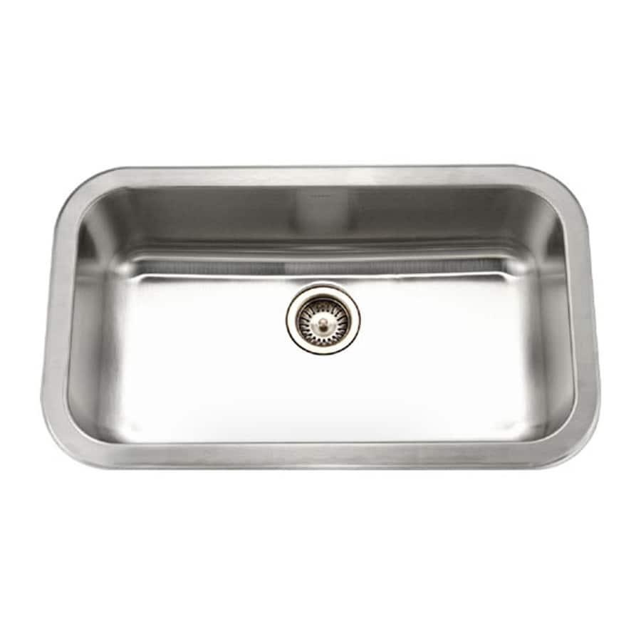 HOUZER Medallion 19-in x 32-in Lustrous Satin Single-Basin Stainless Steel Undermount Residential Kitchen Sink