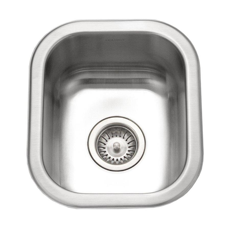 HOUZER Club Lustrous Satin Stainless Steel Undermount Residential Prep Sink