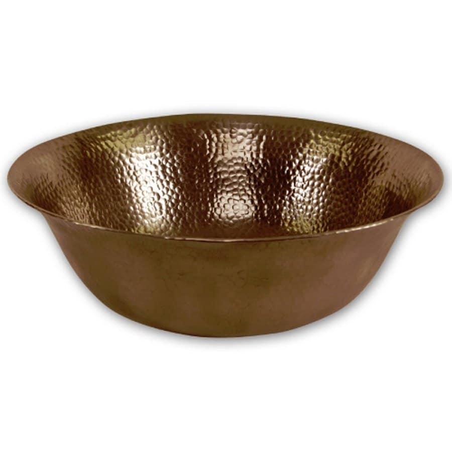 HOUZER Hammerwerks Copper Vessel Round Bathroom Sink