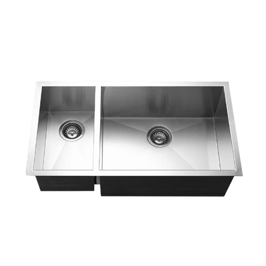 Stainless Steel Undermount Residential Kitchen Sink Double Basin