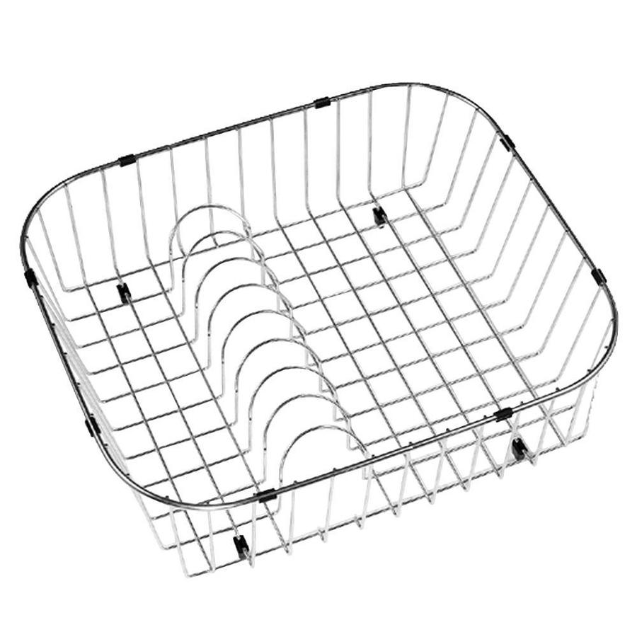 HOUZER 19-in W x 16.25-in L x 5.5-in H Metal Dish Rack and Drip Tray