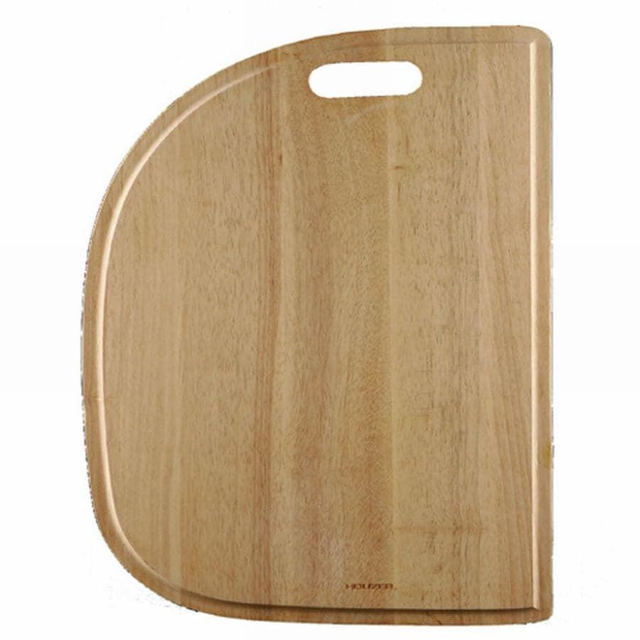 HOUZER 1 20.25-in L x 13.5-in W Wood Cutting Board