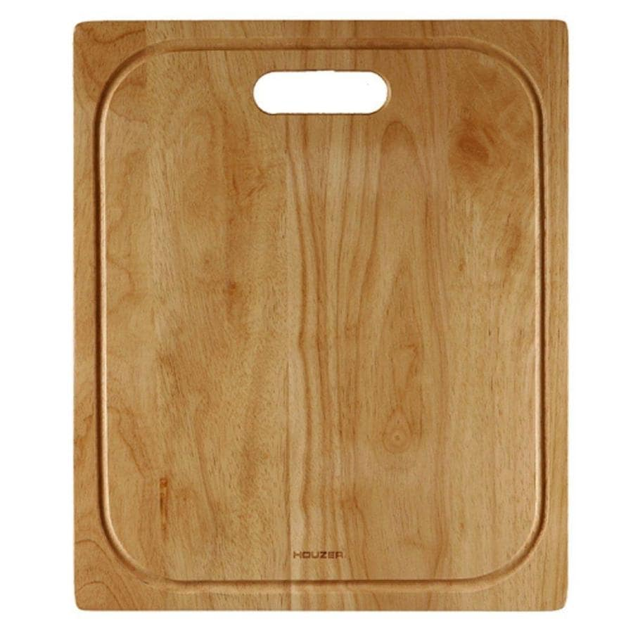 HOUZER 1 17.75-in L x 14.75-in W Wood Cutting Board