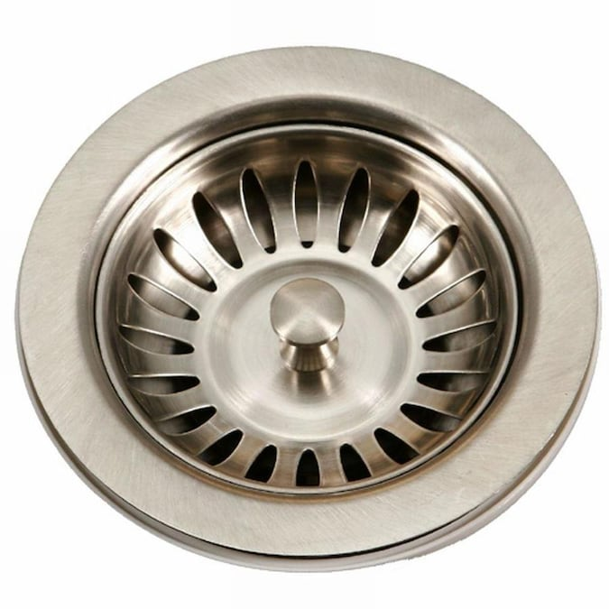 houzer preferra 3.5-in stainless steel stainless steel fixed post kitchen sink strainer in the