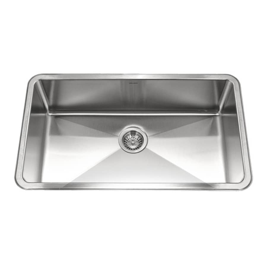 Houzer Sinks : HOUZER Nouvelle 18-in x 31-in Lustrous Satin Single-Basin Stainless ...