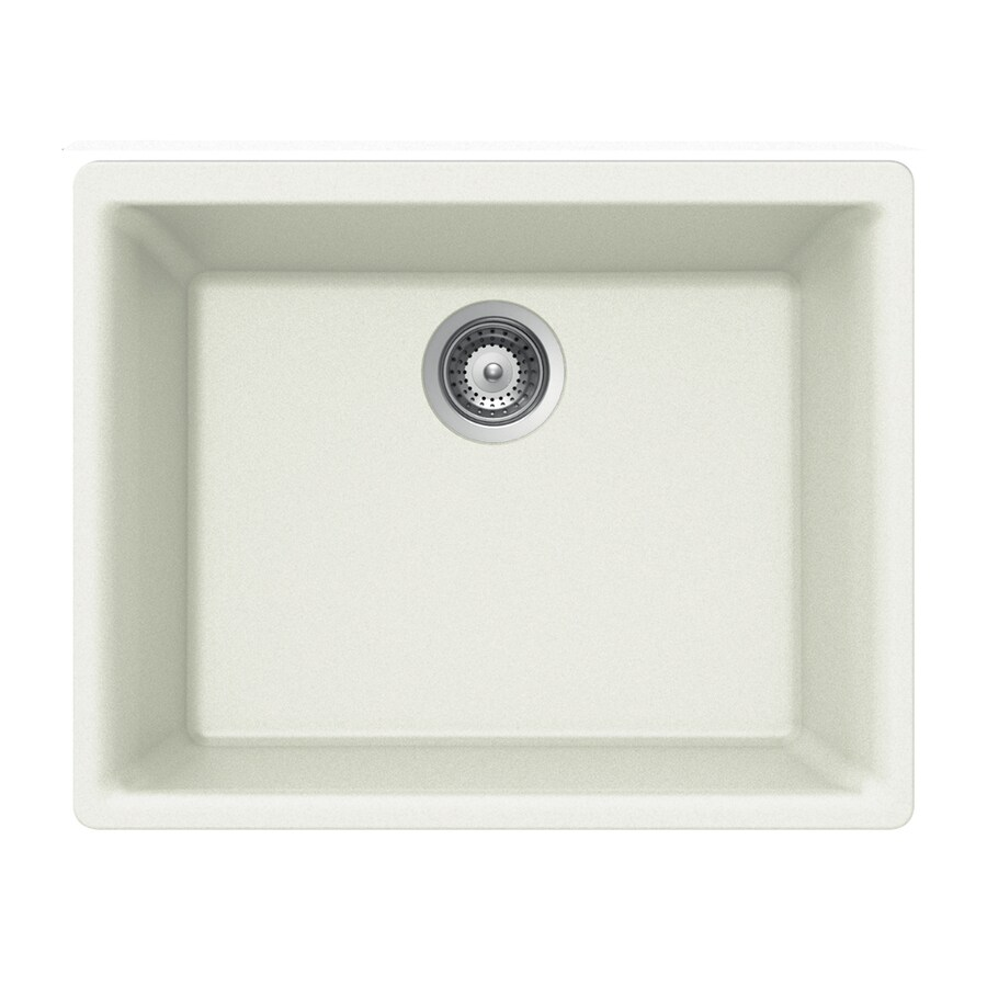 HOUZER 18-in x 24-in Alpina 1 Granite Undermount (Customizable)-Hole Residential Kitchen Sink