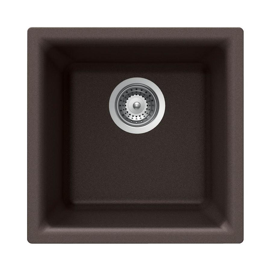 HOUZER Cristalite+ Mocha Granite Drop-in or Undermount Residential Bar Sink