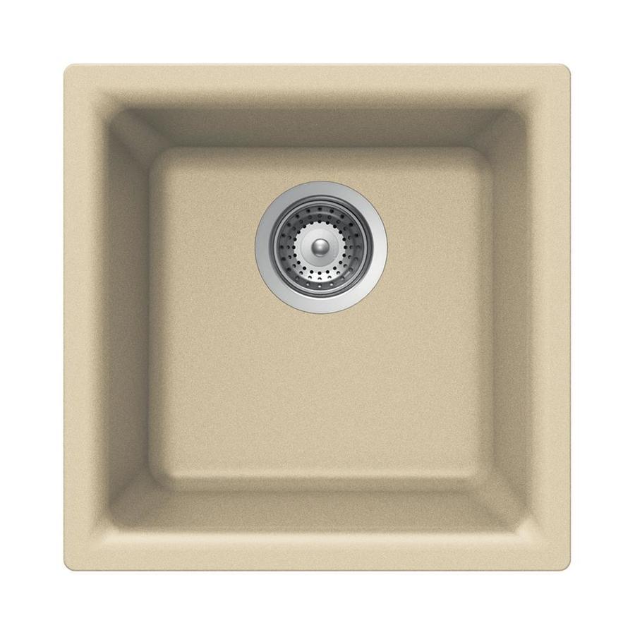 HOUZER Cristalite+ Colorado Granite Drop In Or Undermount Residential Bar  Sink