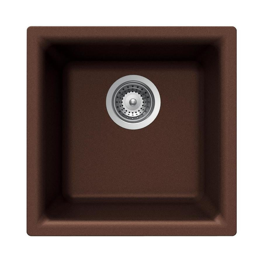 HOUZER Cristalite+ Copper Granite Drop-in or Undermount Residential Bar Sink