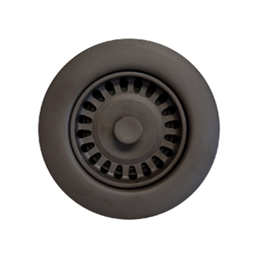 HOUZER Preferra 3.5-in Oil Rubbed Bronze Plastic Fixed Post Kitchen Sink Strainer