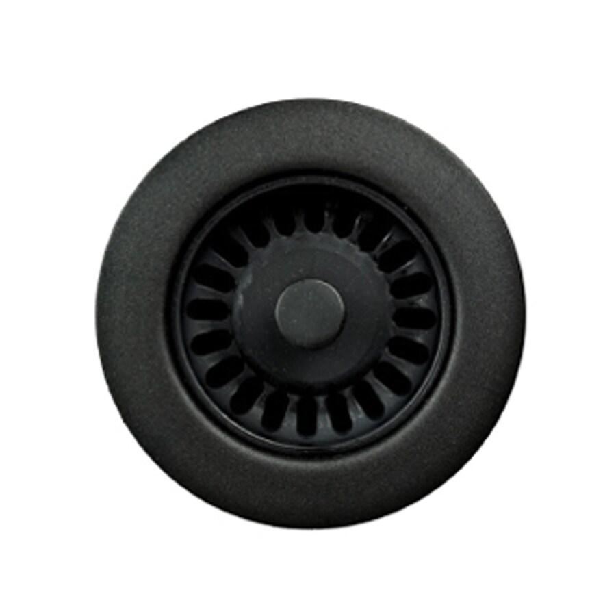 HOUZER Preferra 3.5-in Matte Black Plastic Fixed Post Kitchen Sink Strainer