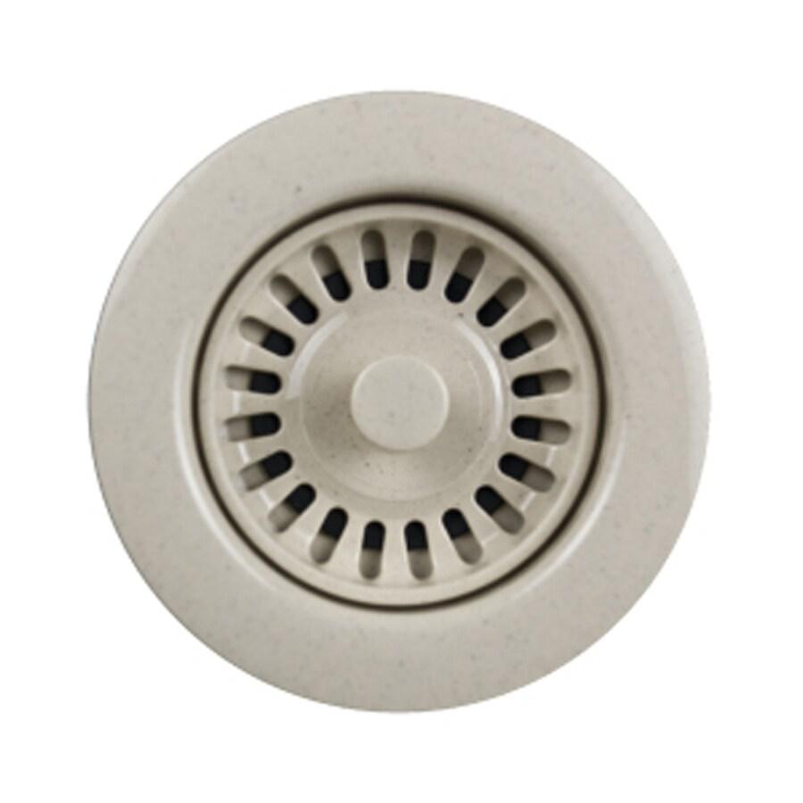 HOUZER Preferra 3.5-in Granite Bone Plastic Fixed Post Kitchen Sink Strainer