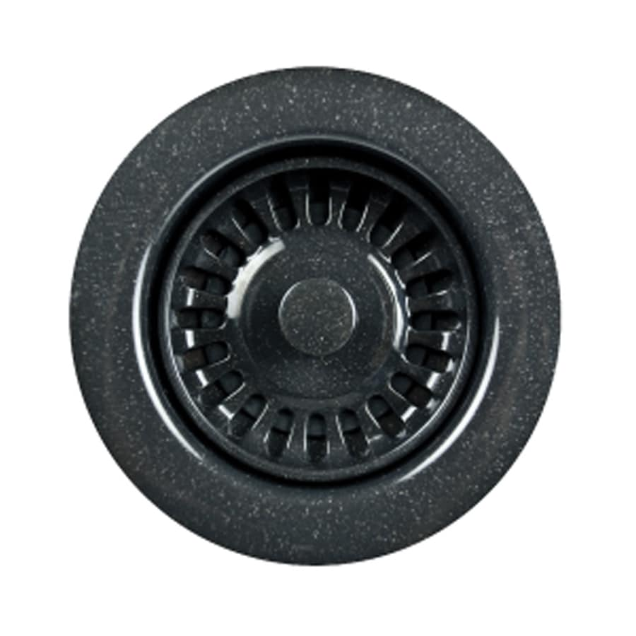 HOUZER Preferra 3.5-in Granite Black Plastic Fixed Post Kitchen Sink Strainer