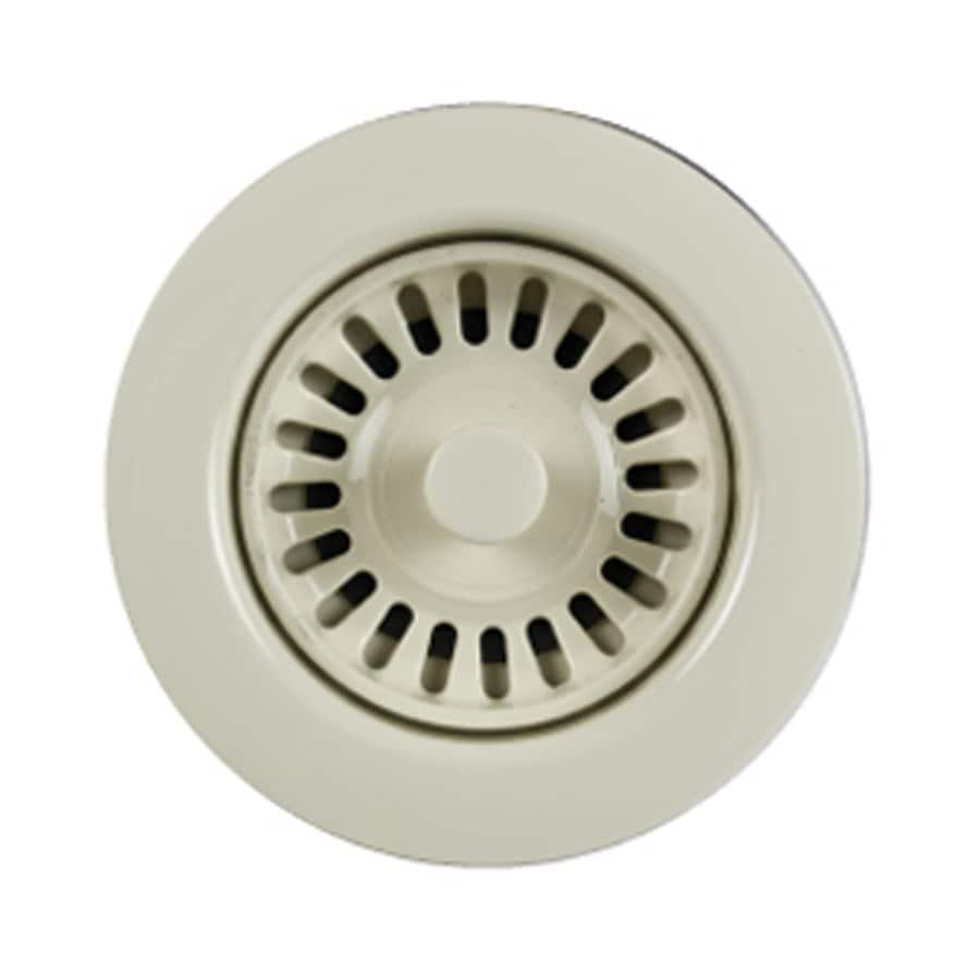 HOUZER Preferra 3.5-in Bone Plastic Fixed Post Kitchen Sink Strainer