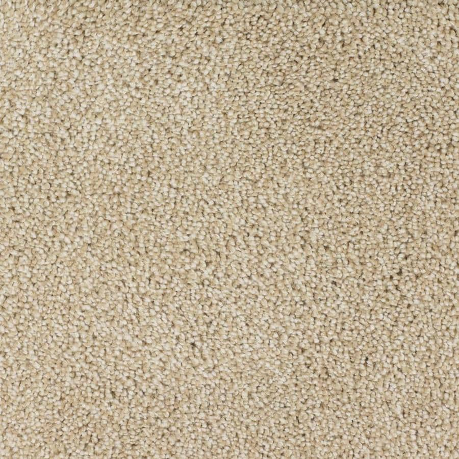 STAINMASTER TruSoft Shafer Valley Cream/Beige/Almond Textured Indoor Carpet