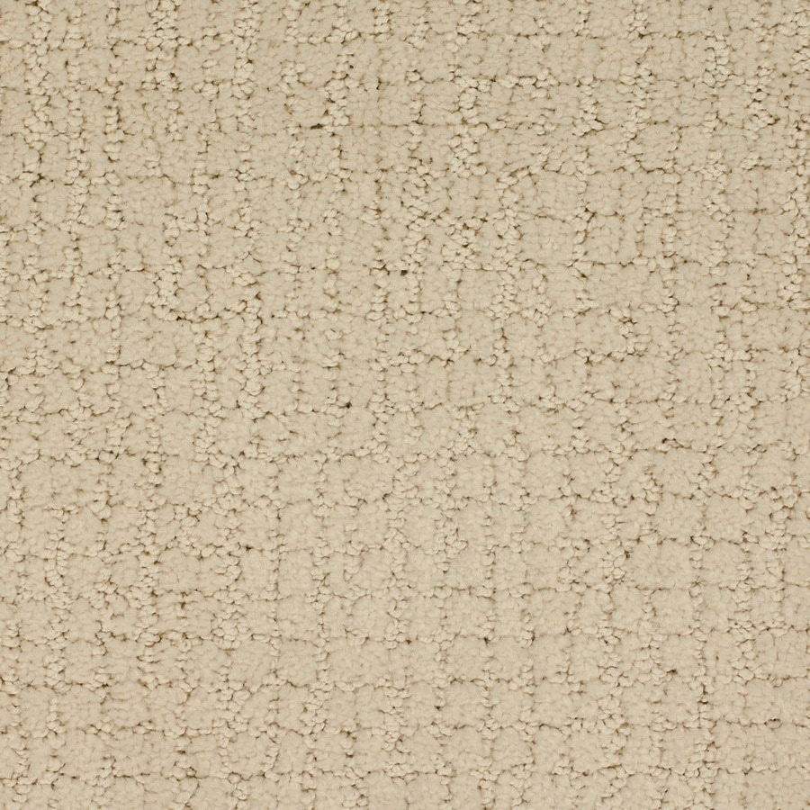 STAINMASTER TruSoft Perpetual Cream/Beige/Almond Cut and Loop Indoor Carpet