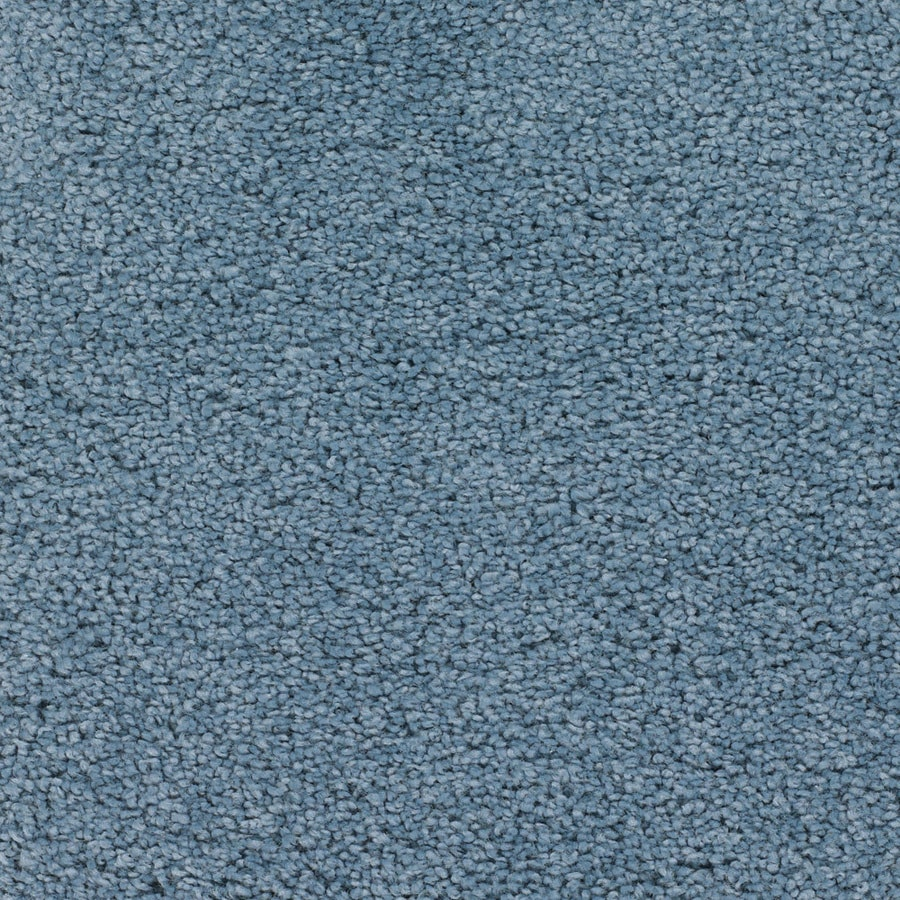 STAINMASTER Trusoft Chimney Rock Blue Textured Interior Carpet