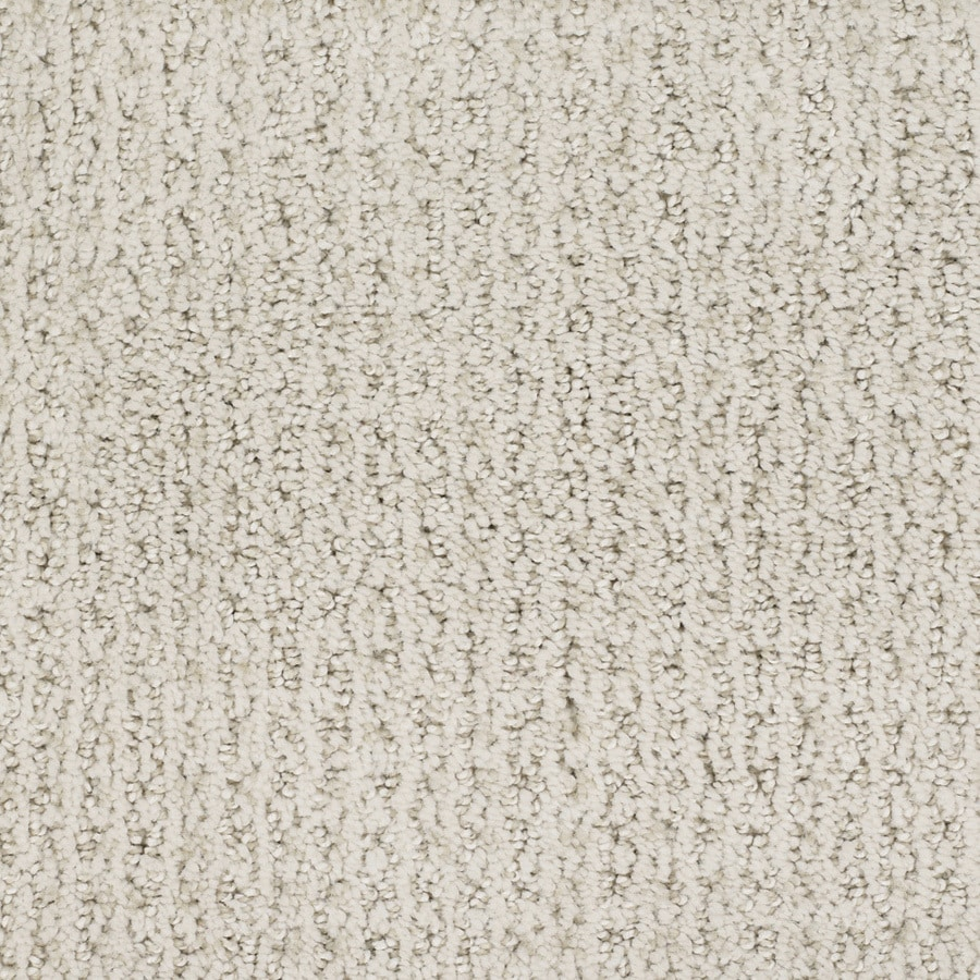 STAINMASTER TruSoft Salena Cream/Beige/Almond Cut and Loop Indoor Carpet