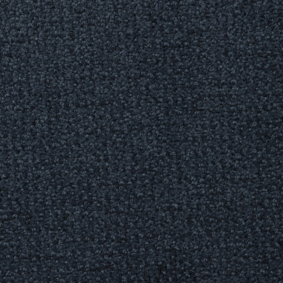 STAINMASTER Active Family Morning Jewel 12-ft W x Cut-to-Length Midnight Blue Pattern Interior Carpet