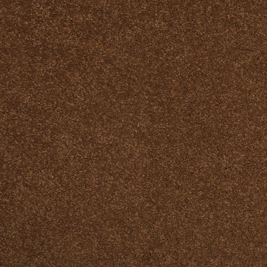 STAINMASTER Trusoft Best Of Class Pumpkin Butter Plush Interior Carpet