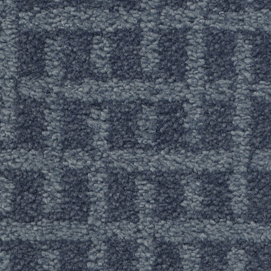 STAINMASTER TruSoft Chateau Avalon Blue Note Cut and Loop Indoor Carpet