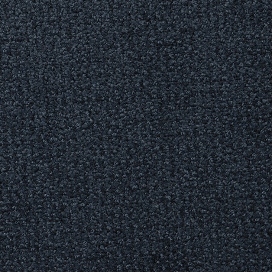 STAINMASTER Morning Jewel Midnight Blue Rectangular Indoor Tufted Area Rug (Common: 8 x 10; Actual: 96-in W x 120-in L)