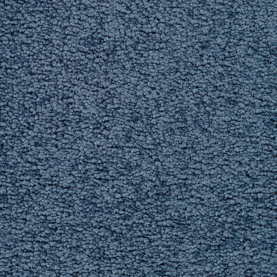 STAINMASTER Active Family Stellar 12-ft W x Cut-to-Length Blue Steel Textured Interior Carpet