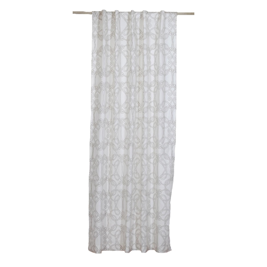 allen + roth 108-in L Beige Back Tab Curtain Panel
