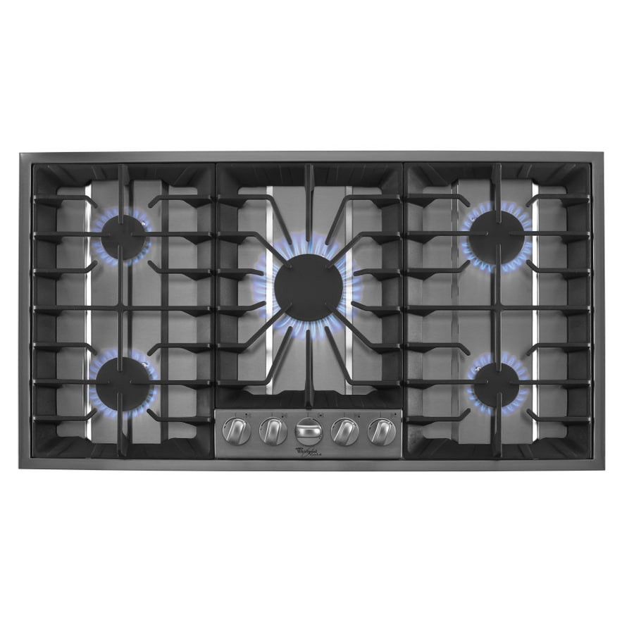 Whirlpool Gold 5-Burner Gas Cooktop (Stainless) (Common: 36-in; Actual 36-in)