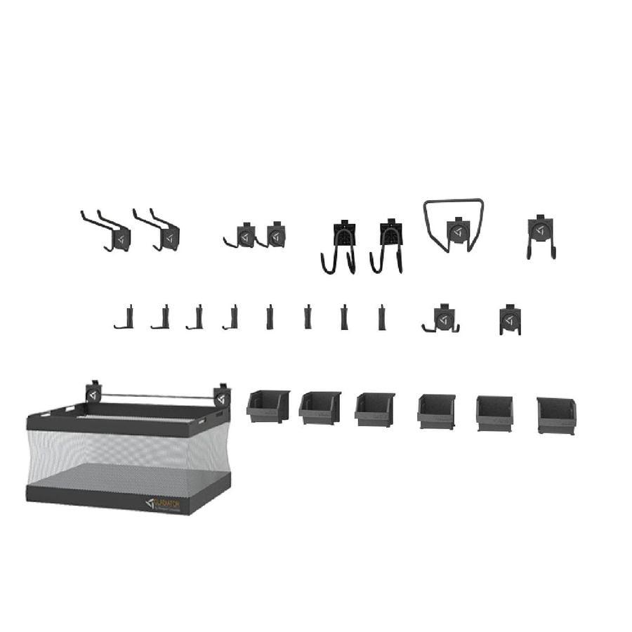 Gladiator 25-Piece Light Gray Storage Rail Accessory Starter Kit