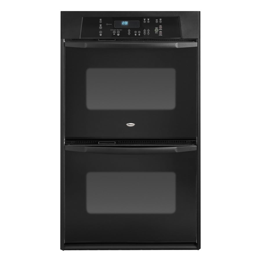 Whirlpool 24-in Self-Cleaning Double Electric Wall Oven (Black)