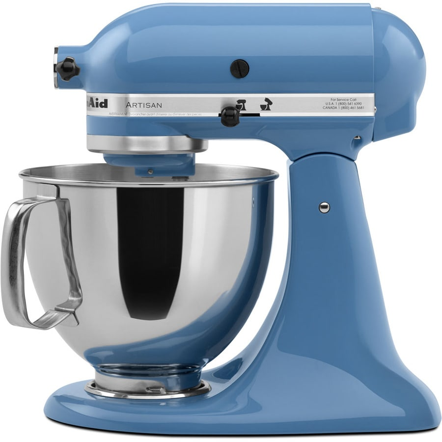 shop kitchenaid artisan series 5 quart 10 speed cornflower. Black Bedroom Furniture Sets. Home Design Ideas