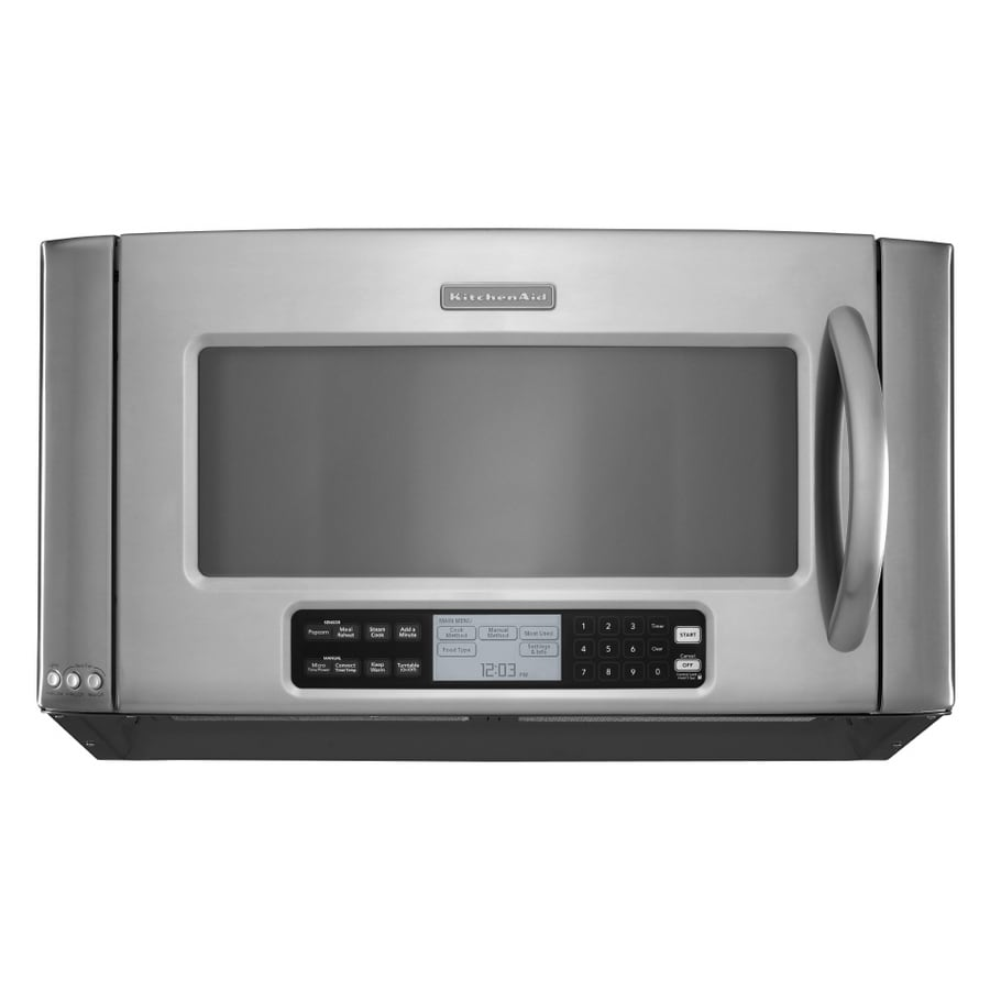 kitchenaid architect ii 2 cu ft over the range convection oven microwave with sensor cooking. Black Bedroom Furniture Sets. Home Design Ideas
