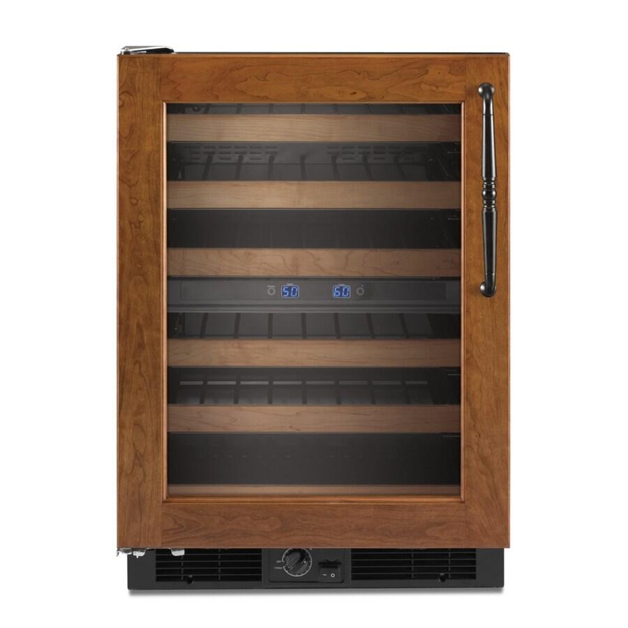 KitchenAid 46-Bottle Custom Panel Dual Zone Undercounter Wine Chiller
