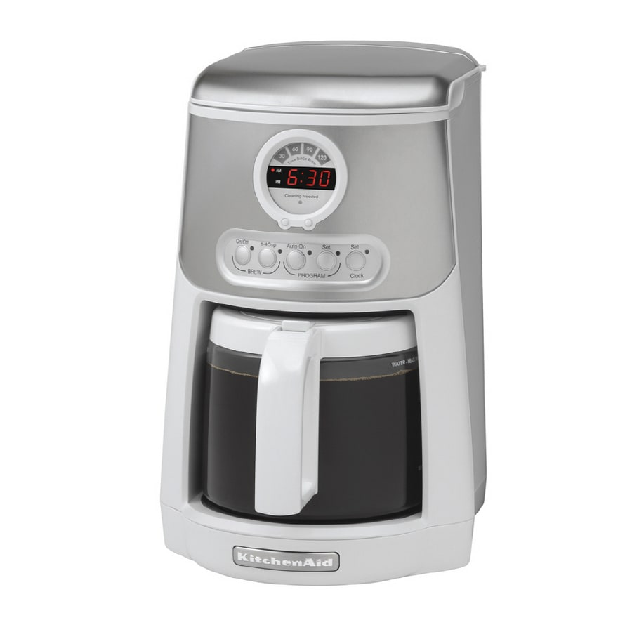 programmable coffee maker shop kitchenaid 14 cup programmable coffee maker white 31084