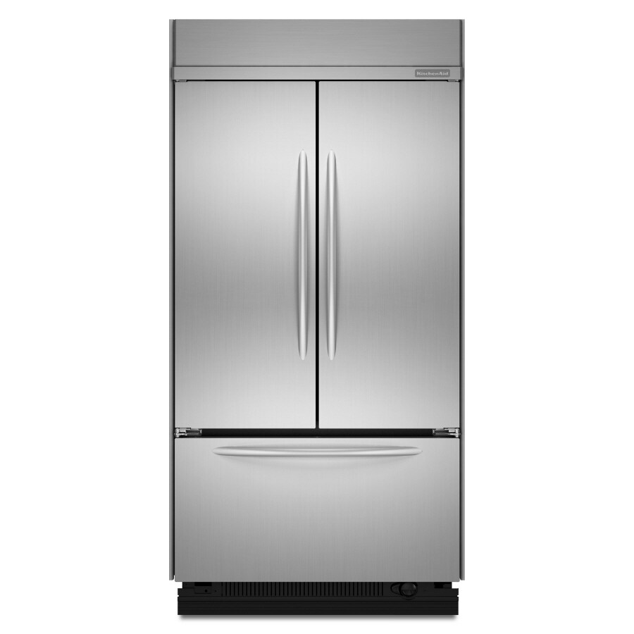 KitchenAid 24.2-cu ft Built-In French Door Refrigerator with Single Ice Maker (Stainless)