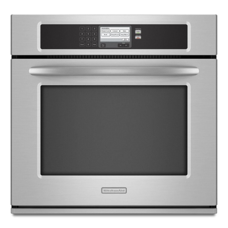 KitchenAid Architect II Self-Cleaning Convection Single Electric Wall Oven (Stainless Steel) (Common: 30-in; Actual 29.75-in)
