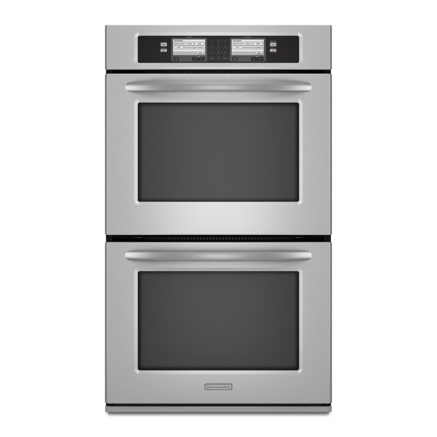 Elegant KitchenAid 30 Inch Double Electric Wall Oven (Color: Stainless Steel)