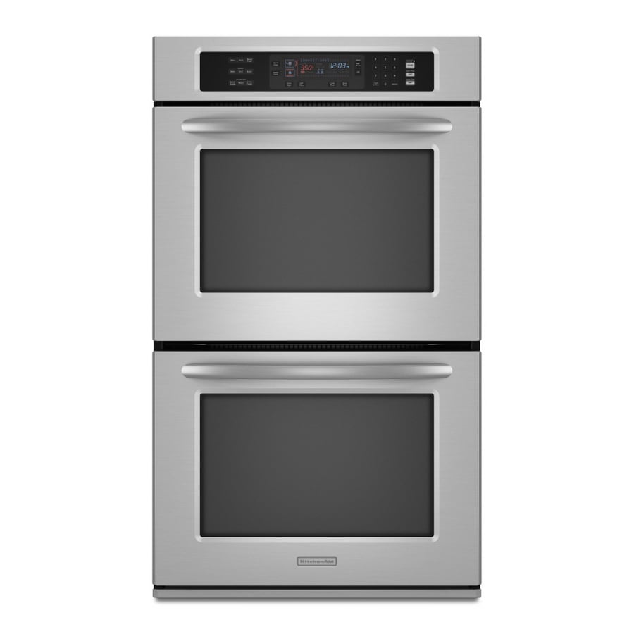 Gentil KitchenAid 27 Inch Double Electric Wall Oven (Color: Stainless Steel)