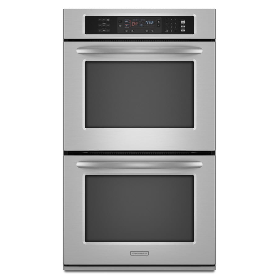 KitchenAid 30-in Convection Double Electric Wall Oven (Stainless Steel)