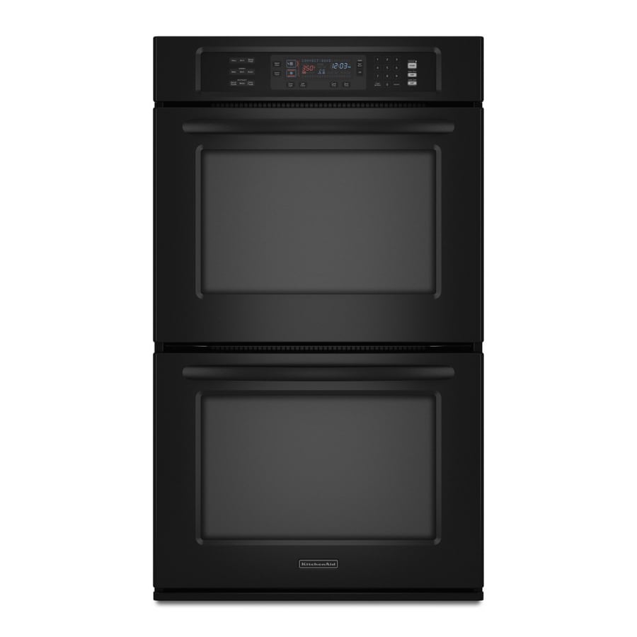 KitchenAid 30 In Convection Double Electric Wall Oven (Black) At ...
