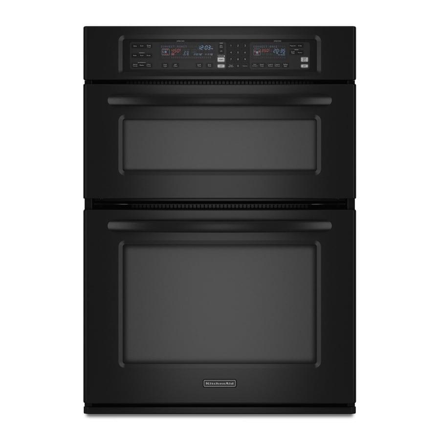Kitchenaid Black Microwave: KitchenAid 29.75-in Microwave Wall Oven Combo (Black) At