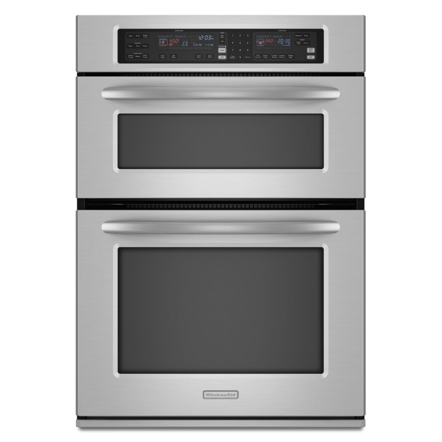 Shop kitchenaid self cleaning microwave convection microwave wall oven combo stainless common - Kitchenaid microwave ...