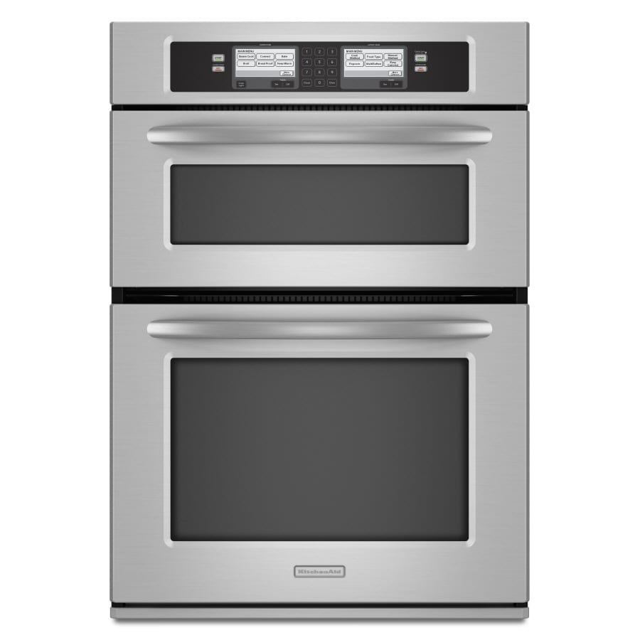KitchenAid Self-Cleaning Convection Microwave Wall Oven Combo (Stainless) (Common: 30-in; Actual 29.75-in)
