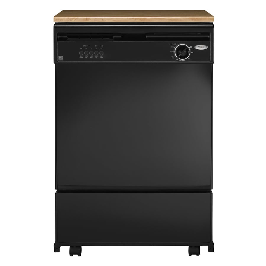 Shop Whirlpool® 24-Inch Portable Dishwasher (Color: Black) at Lowes.com